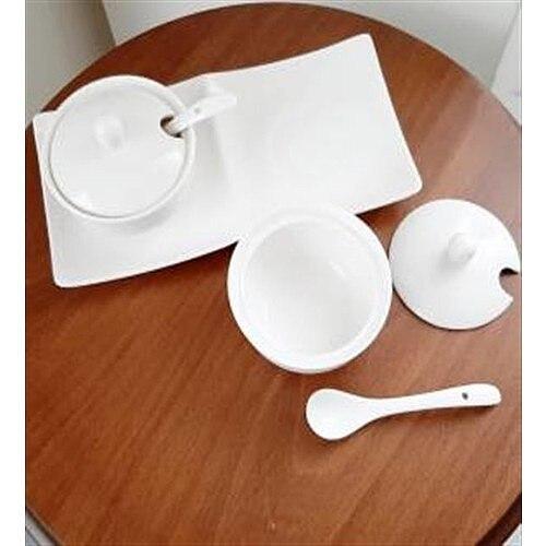 Spoon White Porcelain 2'li Spice Team Clamshell