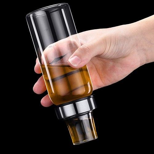 Leak Proof Oil Pot Borosilicate Glass Seasoning Bottle for Household Soy Sauce Vinegar Oil QP2