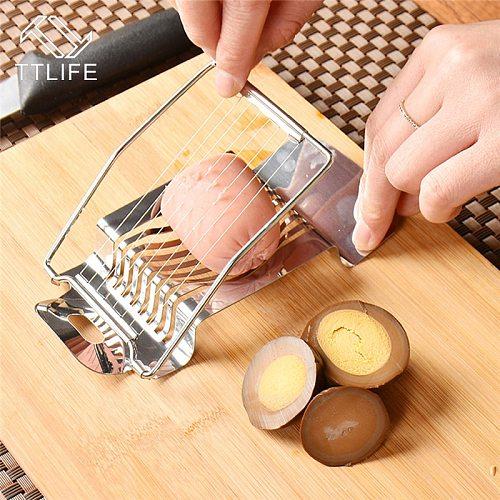 TTLIFE Stainless Steel Egg Slicer Multi-Function Kitchen Egg Cutter Sectione Cutter Mushroom Tomato Cutter Kitchen Gadgets