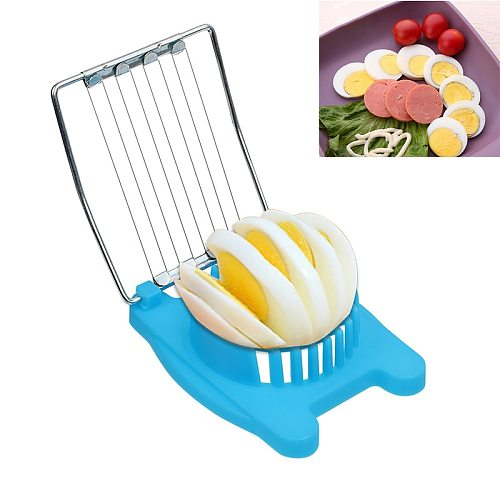 Kitchen 3 Colors Cut Multifunction Kitchen Accessories Egg Slicer Sectioner Cutter Mold Flower Edges Egg Shaper New High Quality