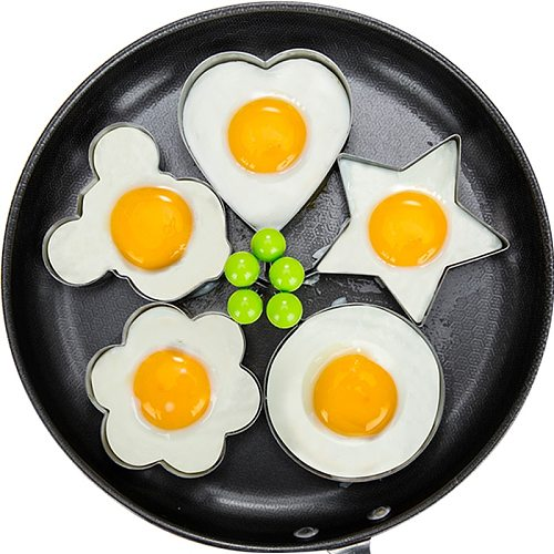 Kitchen Accessories Stainless Steel 5Style Fried Egg Pancake Shaper Omelette Mold Mould Frying Egg Cooking Tools Gadget Rings