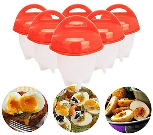 6PCS/Set  Egg Poachers Cooker Silicone Non-stick Egg Boiler Cookers 6 Piece Pack Boiled Eggs Mold Cups Steamer Kitchen Gadgets