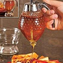 Creative Plastics Honey Syrup Dispenser Sealing Storage Tanks Nordic Practical Liquid Condiment Jam Juice Kitchen Storage Jars