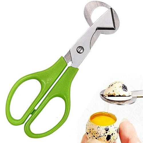 10PCS Stainless Steel Quail Egg Cutter Scissors Pigeon Bird Quail Egg Cutter Opener Cracker Kitchen Clipper Tool