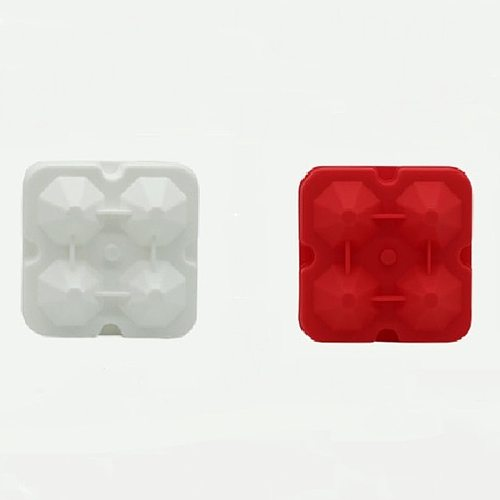 Hot Practical Non-toxic Harmless Silicone Ice Tray Durable Easy Clean Silicone Mold Reusable Diamond Creative Box With Lid