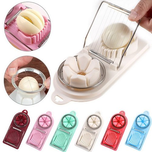 Stainless Steel Egg Cutter 2 in 1 Egg Splitter Multifunctional Fruit And Vegetable Cutting Kitchen Accessories Slicing Gadget
