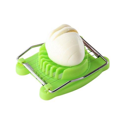 Creative Stainless Steel Egg Slicer Multifunctional Egg Cutter Fancy Egg Dividers Egg Separator Kitchen Tool (Green)