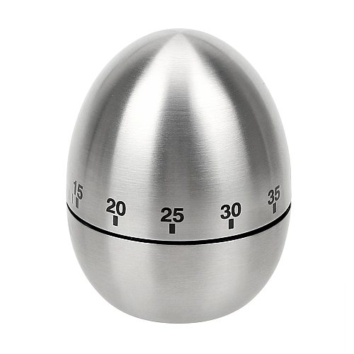 Kitchen Timer 60 Minutes Clock Counting Creative Home Stainless Steel Egg Mechanical Alarm Time Cooking Tools