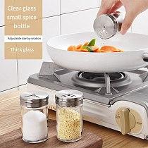 Kitchen Spice Jar Seasoning Box Kitchen Spice Glass Storage Bottle Jars Transparent Sugar Salt Pepper Cumin Powder Box Tool
