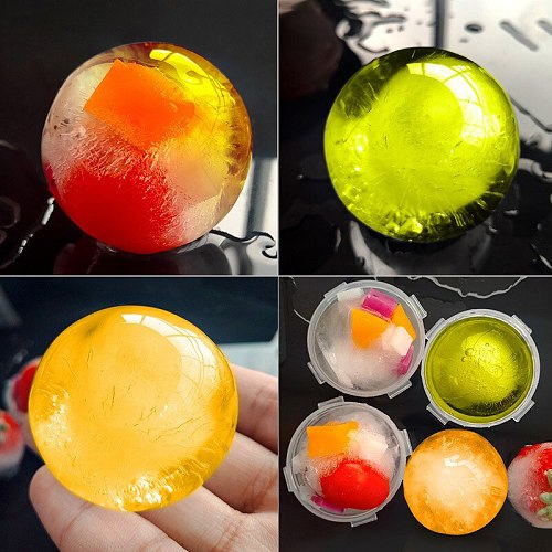 New 5CM Round Ball Ice Cube Mold DIY Ice Cream Maker Plastic Ice Mould Whiskey Ice Tray for Bar Tool Kitchen Gadget Accessories
