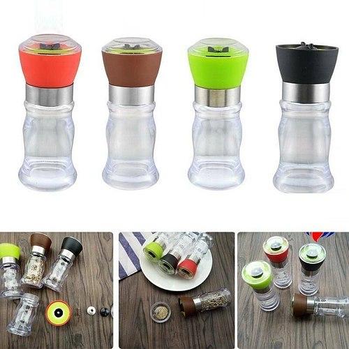 1pc Grinding Bottles Tools Salt Pepper Mill Grinder Pepper Grinders Shaker Spice Container Seasoning Condiment Holder Kitchen
