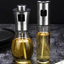 Stainless Steel Kitchen Baking Oil Cook Oil Spray Empty Bottle Vinegar Bottle Oil Dispenser Cooking Tools Kitchen Home Supplies