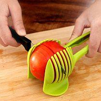 Handheld Kitchenware Tomato Slicer Bread Clip Fruit and Vegetable Cut Potato Apple Lemon Slicer Creative Gadget Kitchen Tool