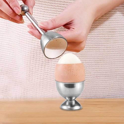 Konesky Stainless Steel Boiled Egg Topper Shell Cutter Knocker Raw Egg Cracker Separator Egg Opener Kitchen Gadgets Accesories