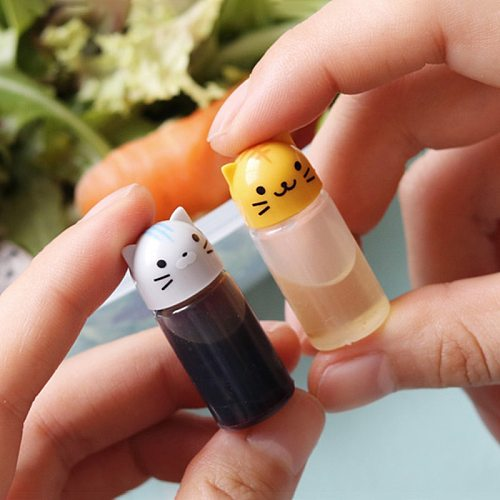 Mini Seasoning Sauce Bottle Small Sauce Containers Pig Elephant Rabbit Lion Chick Soy Sauce Bottle Bento Box Kitchen Accessories