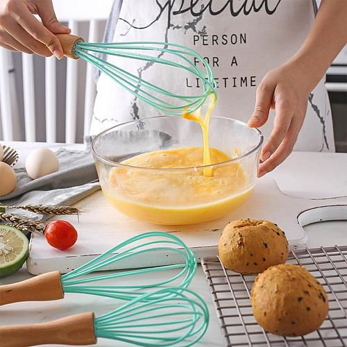 Egg Beater Eco-friendly Hook Design PP Manual Whisk Handle Egg Frother Supplies Stirring Rod Household Kitchen Baking Tools
