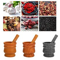 Granite Pestle & Mortar Set Stone Herb Spice Grinder Solid Grinder Cooking Set