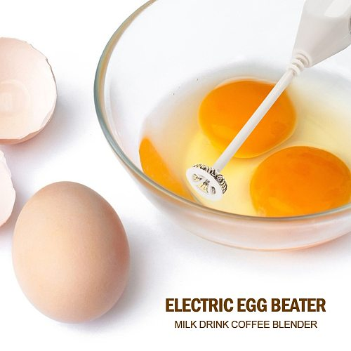 1pc Milk Drink Coffee Whisk Mixer Electric Egg Beater Frother Foamer Mini Handle Stirrer Practical Kitchen Cooking Tool