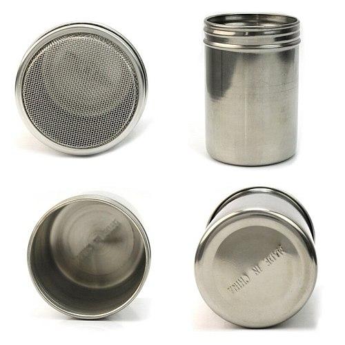 Silver Stainless Steel Mesh Tube Type Dusters Dusting Salt Shaker Spice Jar