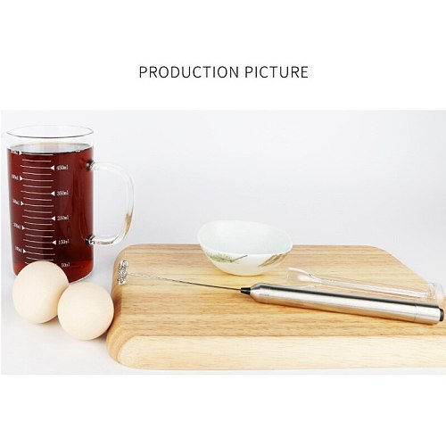 Automatic Egg Beater Stainless Steel Egg Whisk Manual Hand Mixer Egg Stirrer Kitchen Egg Tools for Kitchen Coffee Shop