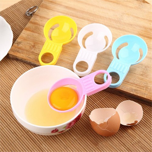2pcs Plastic Egg Divider White Yolk Device Yolk Separator Creative Kitchen Tool PP Egg Tools Eco-friendly Cooking Product