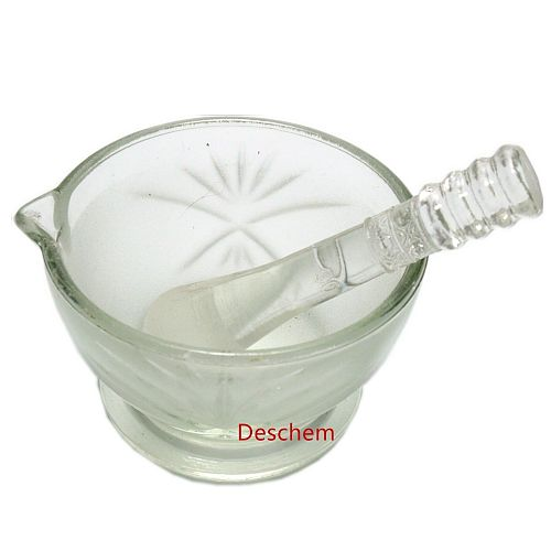 90mm,Glass mortar,Ground glass mortar and pestle,Diameter 9cm