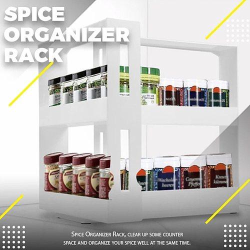 Practical Multifunctional Rotating Spice Rack Organizer Kitchen Cabinet Organizer Swivel Rack Storage Shelf Kitchenware Storage
