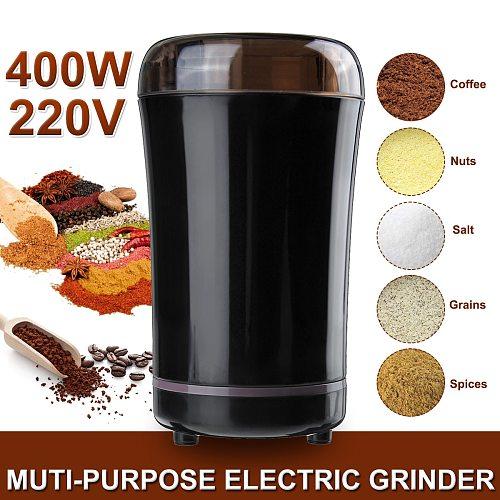 400W Electric Coffee Grinder Kitchen Mini Salt Pepper Grinder Spice Nuts Coffee Bean Powerful Grind Machine Electronic