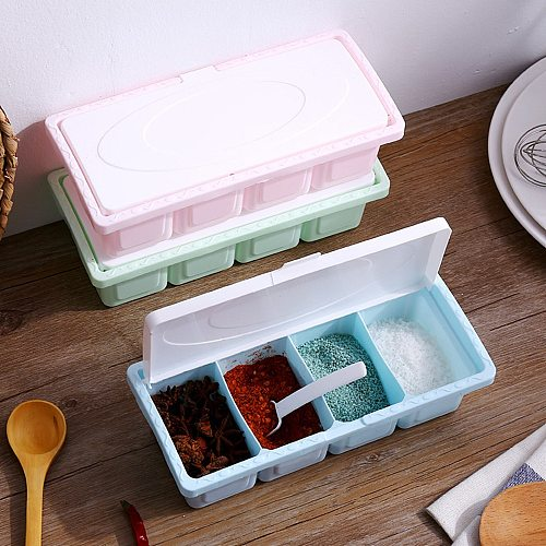 Seasoning Rack Spice Pots Box Storage Container Condiment Jar Kitchen Tool Home Garden Decorative Supplies Tool Drop Shipping