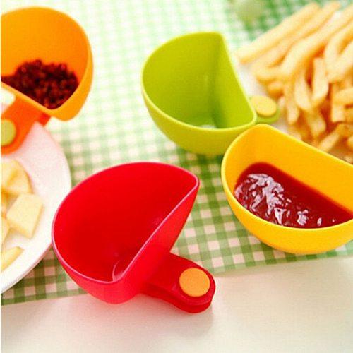Beautiful convenient seasoned spoon 1PCS Assorted Seasoning Sugar Salad Tomato Sauce Dishes Kitchen Clip Bowl Dip Dropshipping