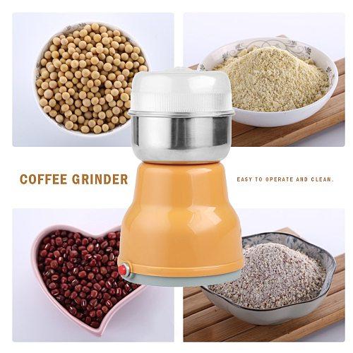 Multifunction Electric Mini Coffee Bean Nut Grinder Smash Machine EU Plug Pepper Peanut Seasoning Spice Mill Crusher for Kitchen