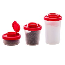 1pc Spice Salt Pepper Shakers Red Seasoning Jar Can Pepper Bottle Barbecue Condiment Kitchen Gadget Tool