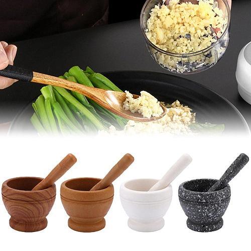 1PCS Mortar Pestle Spice Crusher Resin Bowl Foods Pepper Ginger Spices Tool Garlic Tool Herbs Kitchen Grinder