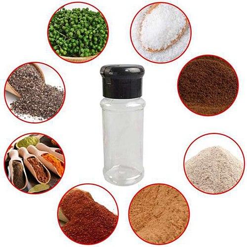 40Pcs/Set 100Ml Spice Salt Pepper Shakers Black Seasoning Jar Can Pepper Bottle Barbecue Condiment Kitchen Gadget Tool