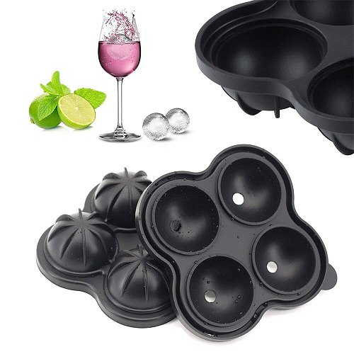 New Whiskey Ice Cube Maker Ball Mold Mould Brick Round Bar Accessiories High Quality Black Color Ice Mold Kitchen Tools
