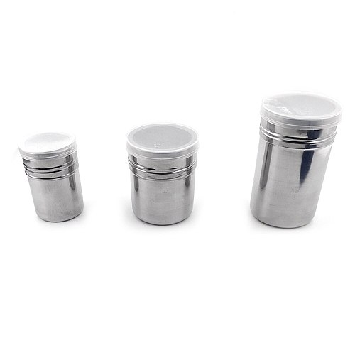 Stainless Steel Duster With Cover Seasoning Pot Fancy Coffee Dusting Bottle Duster Pepper Can Seasoning Pot Seasoning Bottle