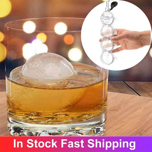 4 Cavity 5.5cm Big Size Ball Ice Molds Sphere Round Ball Ice Cube Makers Home Bar Party Kitchen Whiskey Cocktail DIY Ice Moulds