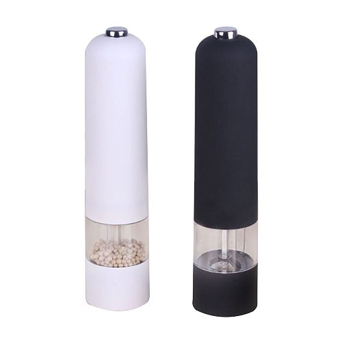 Pepper Grinder Stainless Steel Electric Salt and Pepper Mill Grinder Spice Shakers Kitchen Tools Accessories for Cooking