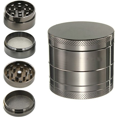 4 Layer Zinc Alloy Herb Grinder 40mm Herb Spice Grass Weed Tobacco Smoke Grinders for Men Smoking Accessories AIA99
