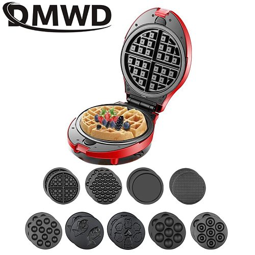 Multifunction Waffle Maker Electric Doughnut Ice Cream Cone Grill Cake Pan Eggette Oven Breakfast Machine 9 Plates Optional 3 EU