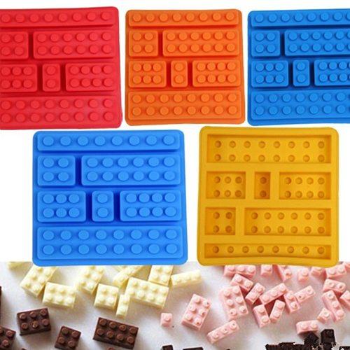 1Pcs Nice 10Hole Lego Brick Blocks Shaped Rectangular DIY Chocolate Silicone Mold Ice Cube Tray Cake Tools Fondant Moulds