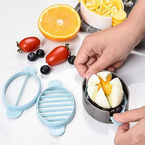 Baking Egg Cutter Multi-Functional Egg Slicer Kitchen Tool Eggs Cutting 3in1 Gadgets Egg Splitter Artifact Cooking Tools
