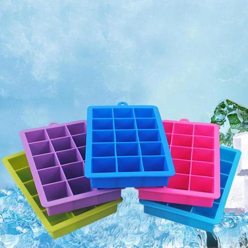 DIY Creative Big Ice Cube Mold Square Shape Silicone Ice Tray