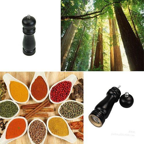 1pc Wooden Pepper Grinder Convenient Black Sauce Spice Salt Mill Grinder Hand Movement Kitchen gadgets