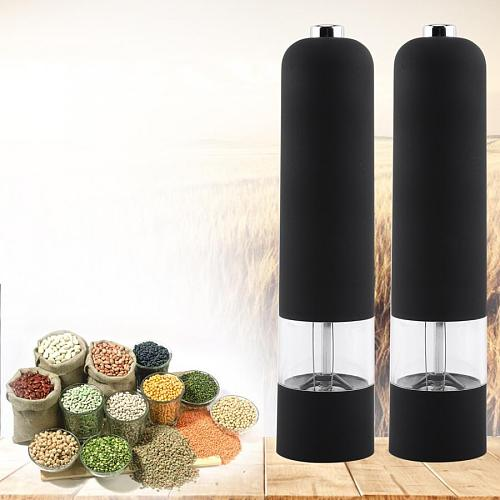 Coffee Grinder Electric Grinder Herb Pepper spice Grinder Mill Stainless Steel Pepper Mill Black Spice Tool Spice Mill For home
