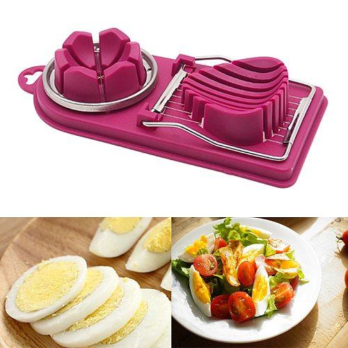 Practical Fruit Vegetable Egg Cutter Egg Vegetable Cutter Cooking Tools With Hook Egg Tools Egg Slicer Kitchen Gadgets