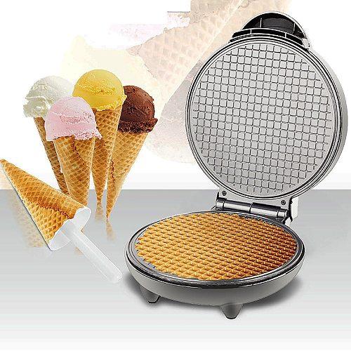 Electric Crispy Egg Roll Maker Omelet Sandwich Iron Crepe Baking Pan Waffle Pancake Oven DIY Ice Cream Cone Machine EU Plug
