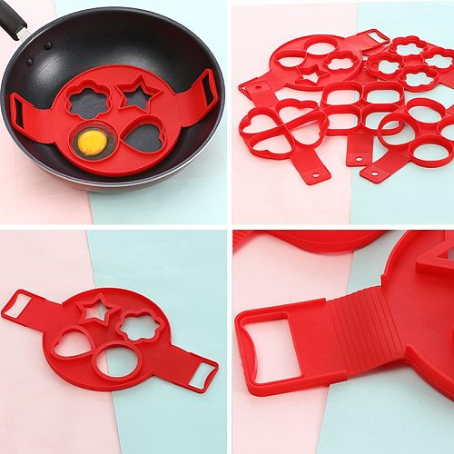 A Variety of Silicone Four-hole Omelette Mold Love Plum Blossom Omelette Timer Household Kitchen Gadgets  Cooking Gadgets