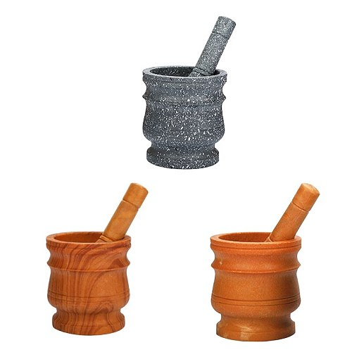 Mortar And Pestle Tool Set 11 Cm Kitchen Herbal Spice Food Chopping And Grinding Tool For DIY Sauce Making Kitchen Supplies