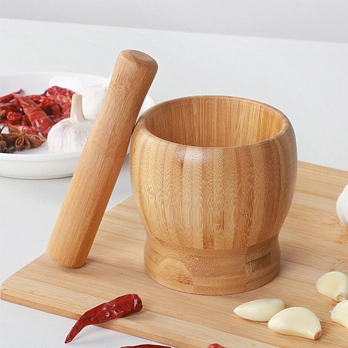 1PC Multi-Functional Garlic Press And Manual  Spices Mortar Pestle Set  Grinder Kitchen Tools